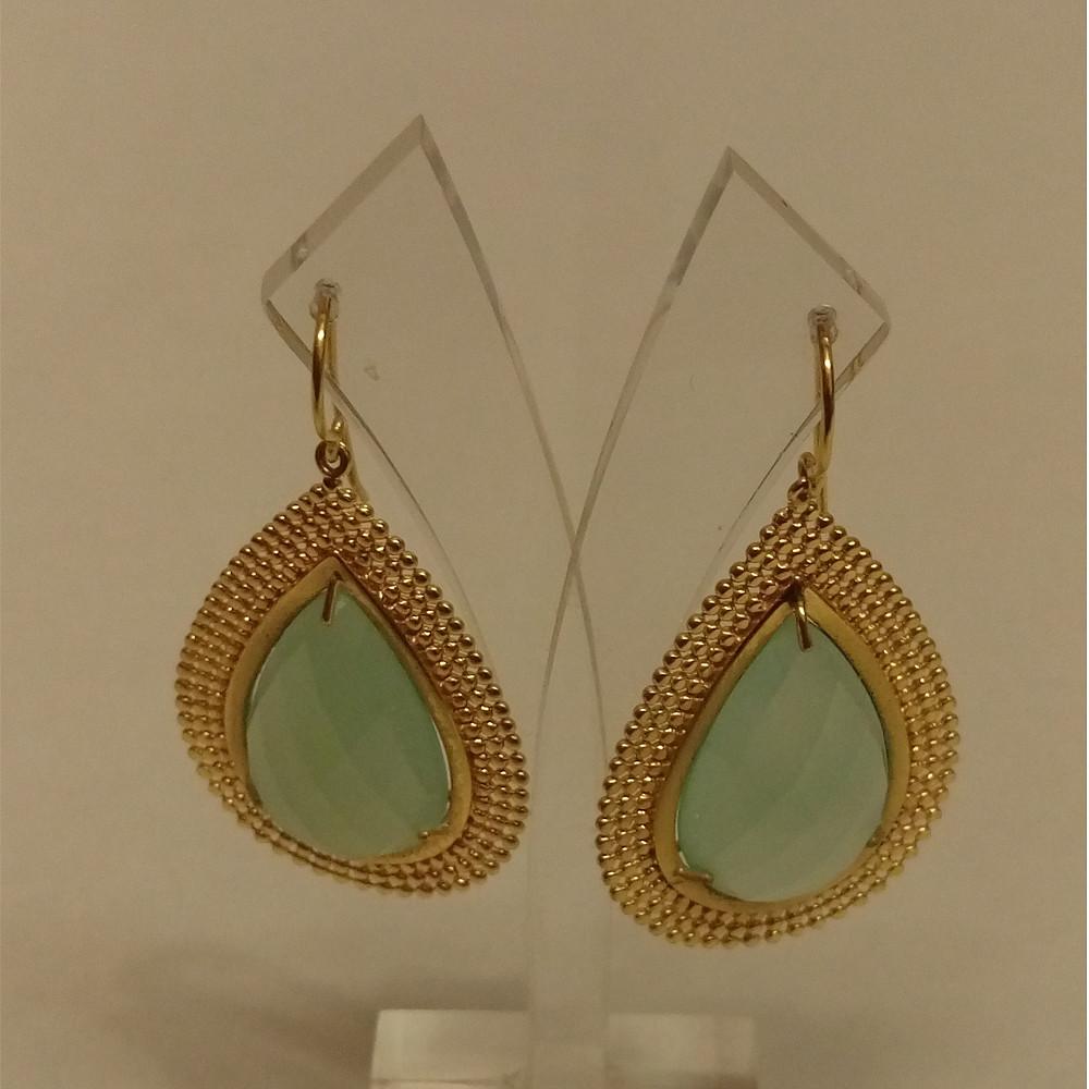 Azuni Earring Aqua | Gold