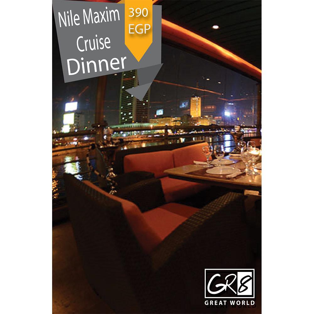 Gr8World Dinner At Nile Maxim Cruise
